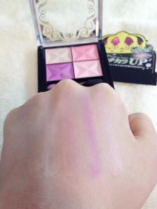 カラフルアイシャドウ(ピンク)の発色