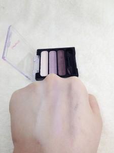 クレヨンタッチミー3色アイシャドウ(ラベンダーパープル)の発色