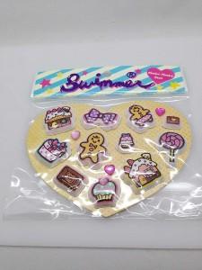 スイマーのお菓子のぷっくりシール