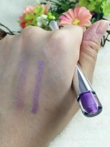 エクスプレスアイシャドウペン、パープルの発色