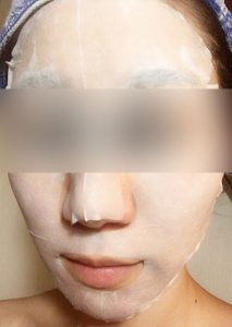 輝肌マスク使用