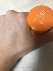 アクポレスアクネクリアジェリー薬用クリアジェルRFAPの使用感